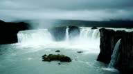 Mystery Godafoss Falls in Northeast Iceland video