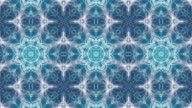 Mystical organic abstract kaleidoscope foam waves background animation. Seamless video