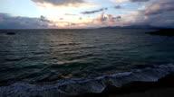 Mytikas Beach sunset view (Greece, Lefkada). video