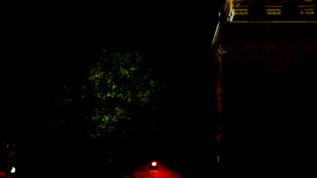Nabatnaya Tower at night video