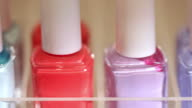 Nail Polish Dolly Left Macro video
