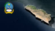 Namibe with Coat of arms animation map video
