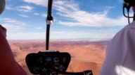 AERIAL Namibian Desert Through Helicopter's Window video