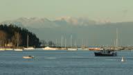 Nanaimo Harbor Anchorage and Mountains video