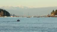 Nanaimo Harbor Dusk Anchorage video