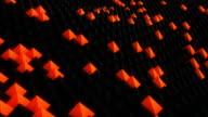 Nano surface waving 3D render. Seamless loop animation video