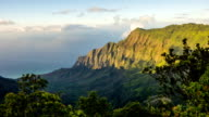 Napali Coast Kauai Kalalau Valley Shoreline Aerial Shot video