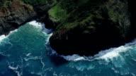 Napali Coast Kauai Shoreline Aerial Shot video