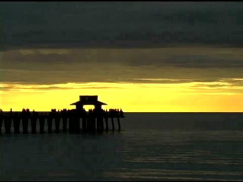 Naples Pier Sunset Time lapse NTSC video
