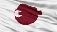 Nara Prefecture Isolated Waving Flag video