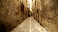 Narrow Ancient Stone Street Far Old Mosque Sanliurfa video