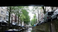 Narrow canals in Amsterdam video