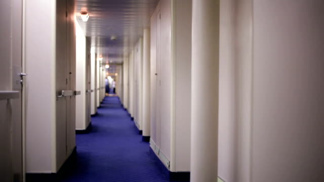 Narrow empty corridor video