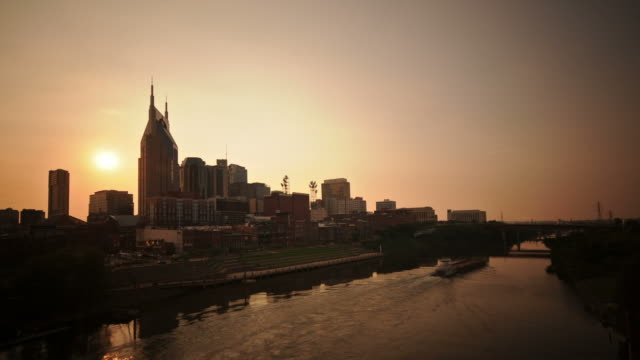 Nashville sunset time lapse video