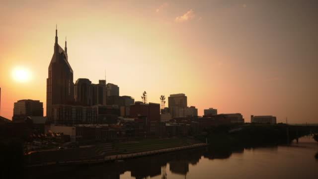 Nashville sunset time lapse video