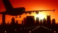 Nashville Tennessee USA America Skyline Sunrise Landing video