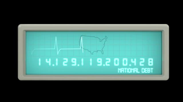 National Debt Counter EKG video