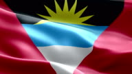 National flag Antigua & Barbuda wave Pattern loopable Elements video