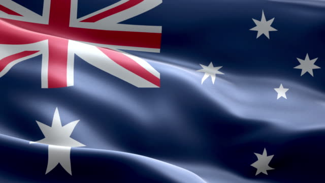 National flag australia wave Pattern loopable Elements video