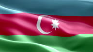 National flag Azerbaijan wave Pattern loopable Elements video