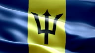 National flag Barbados wave Pattern loopable Elements video