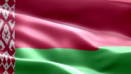 National flag Belarus wave Pattern loopable Elements video