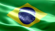 National flag Brazil wave Pattern loopable Elements video