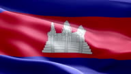 National flag Cambodia wave Pattern loopable Elements video