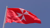 National flag civil ensign of Malta isolated video