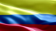 National flag Colombia wave Pattern loopable Elements video