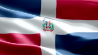 National flag Dominican Republic wave Pattern loopable Elements video