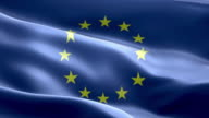 National flag European Union wave Pattern loopable Elements video