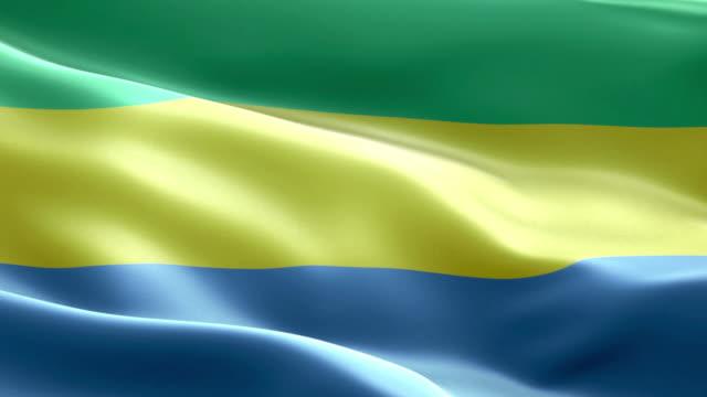 National flag gabonese wave Pattern loopable Elements video