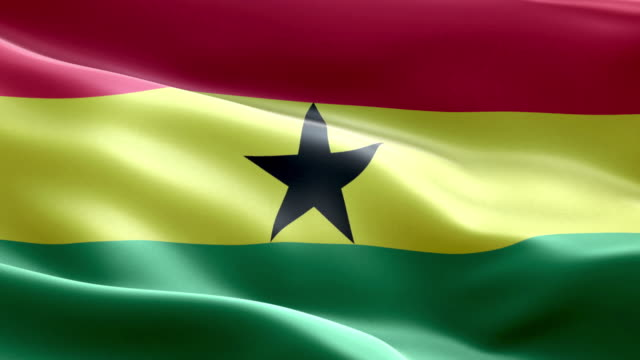 National flag ghana wave Pattern loopable Elements video