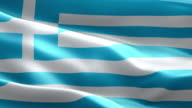 National flag Greece wave Pattern loopable Elements video