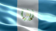 National flag Guatemala wave Pattern loopable Elements video