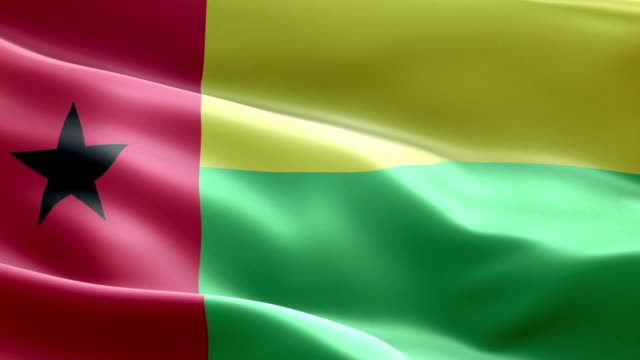 National flag guinea bissau wave Pattern loopable Elements video