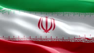 National flag Iran wave Pattern loopable Elements video