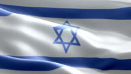 National flag Israel wave Pattern loopable Elements video