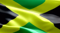 National flag Jamaica wave Pattern loopable Elements video