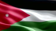National flag Jordan wave Pattern loopable Elements video