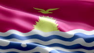 National flag Kiribati wave Pattern loopable Elements video