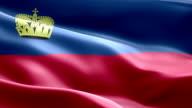 National flag Liechtenstein wave Pattern loopable Elements video