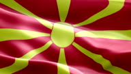 National flag Macedonia wave Pattern loopable Elements video