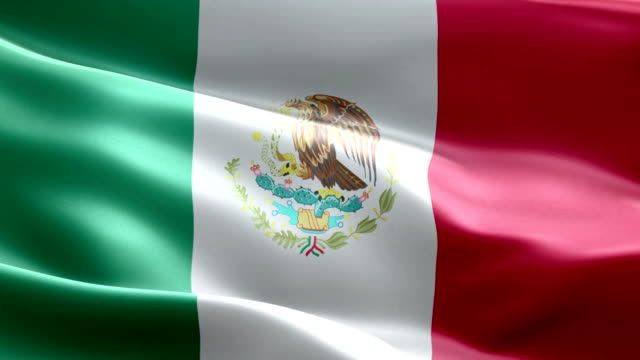 National flag Mexico wave Pattern loopable Elements video