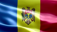 National flag Moldova wave Pattern loopable Elements video