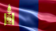 National flag Mongolia wave Pattern loopable Elements video