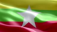 National flag Myanmar wave Pattern loopable Elements video