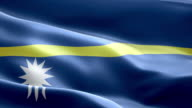 National flag Nauru wave Pattern loopable Elements video