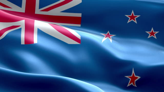 National flag New Zealand wave Pattern loopable Elements video